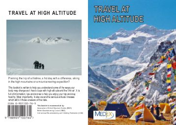 Travel At High Altitude Cover